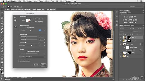 Refining masks: Creating a Photo Composite Illustration with Adobe Apps