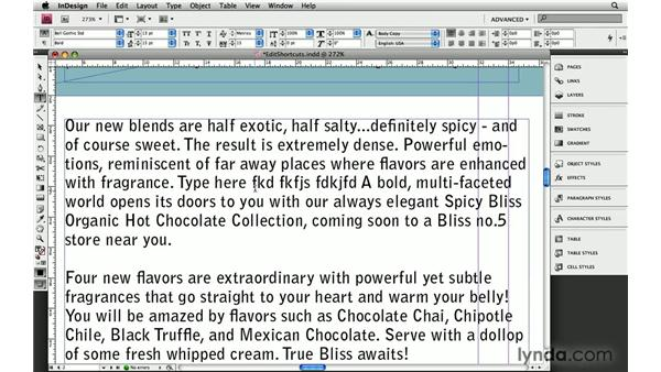 5. Editing the keyboard shortcuts: InDesign: 10 Essential Tips
