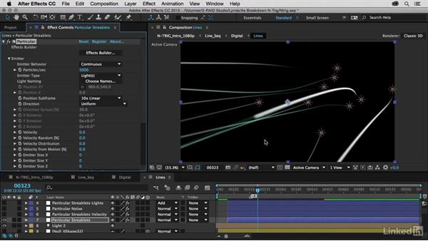 Creating streaks of lights using Particular: After Effects Breakdowns - N-Trig Commercial