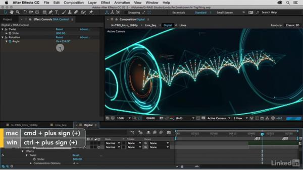 DNA chain using Form: After Effects Breakdowns - N-Trig Commercial