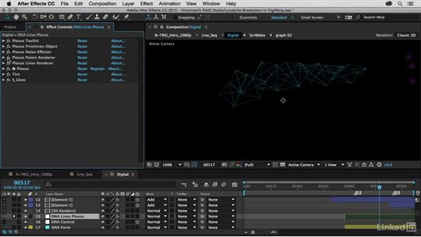 Adding geometric lines with Plexus: After Effects Breakdowns - N-Trig Commercial