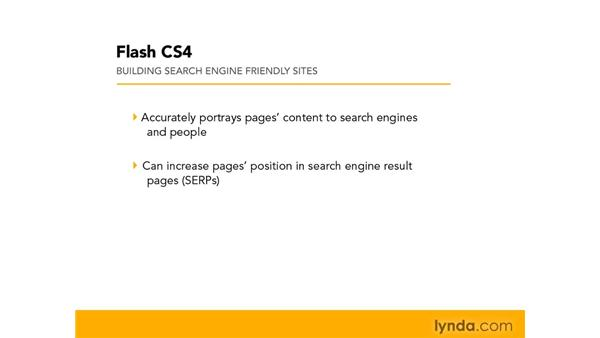 Understanding search engine optimization: Flash CS4 Professional: Building Search Engine Friendly Sites