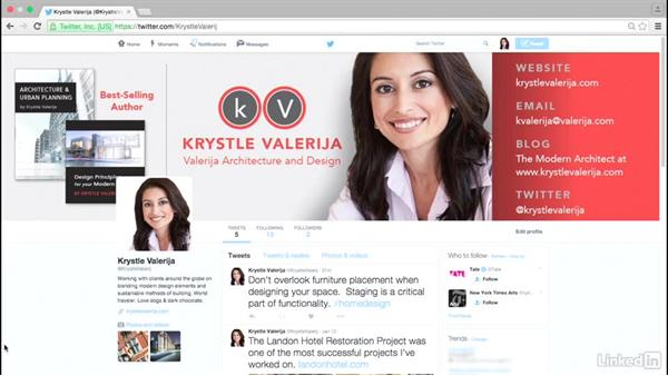A customized social media background: Personal Branding on Social Media