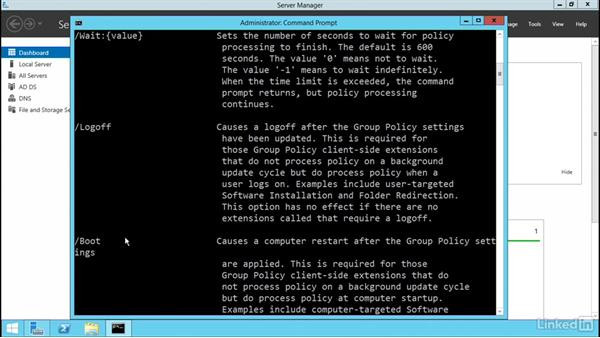 Force Group Policy Update: Windows Server 2012 R2: Manage Group Policy