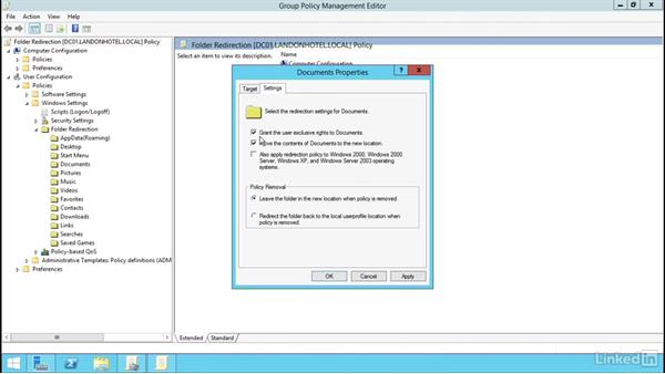 Configure Folder Redirection: Windows Server 2012 R2: Manage Group Policy