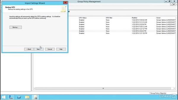 GPO backup and recovery: Windows Server 2012 R2: Manage Group Policy