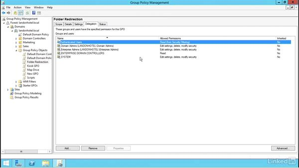 Delegating Group Policy Management: Windows Server 2012 R2: Manage Group Policy