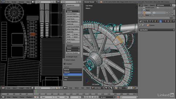 Export a UV template: PBR Materials with Blender & Quixel
