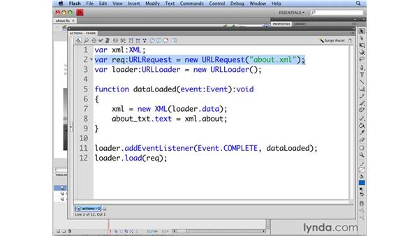 Using XML in Flash: Flash CS4 Professional: Building Search Engine Friendly Sites