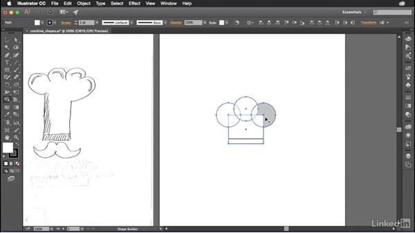 Combining shapes together: Introduction to Graphic Design