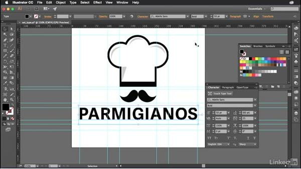 Setting type in Illustrator: Introduction to Graphic Design