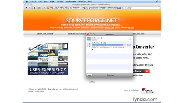 Downloading SWFAddress: Flash CS4 Professional: Building Search Engine Friendly Sites
