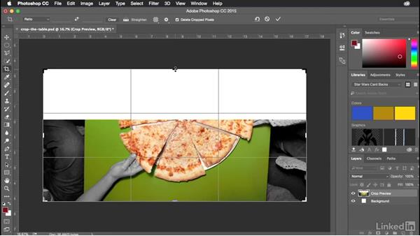 Cropping images nondestructively: Introduction to Graphic Design
