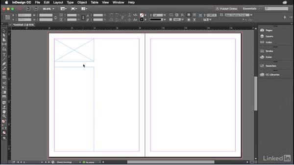 Creating a wireframe in InDesign: Introduction to Graphic Design