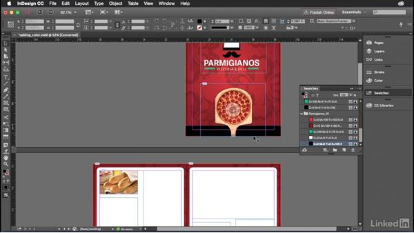 Importing color swatches into InDesign: Introduction to Graphic Design