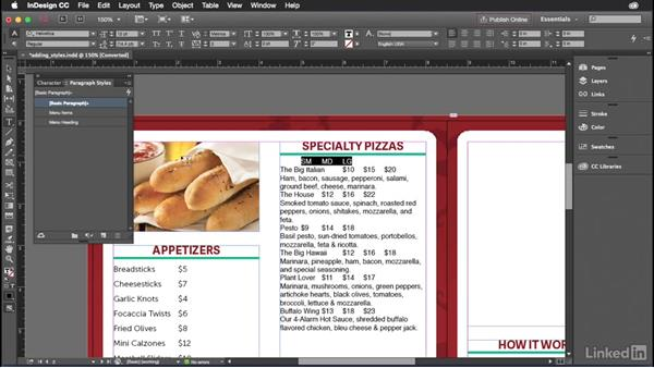 Creating styles in Indesign: Introduction to Graphic Design