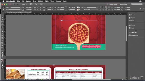 Adding the final touches to your design: Introduction to Graphic Design