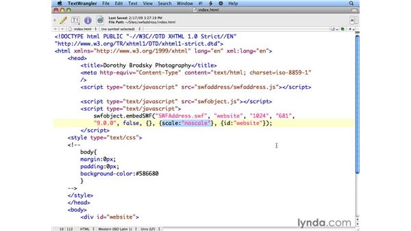 Using SWFAddress in HTML: Flash CS4 Professional: Building Search Engine Friendly Sites