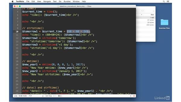 PHP procedural functions: Easy PHP Projects: Time Zone Conversion