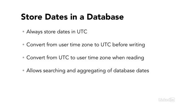 Store dates in a database: Easy PHP Projects: Time Zone Conversion