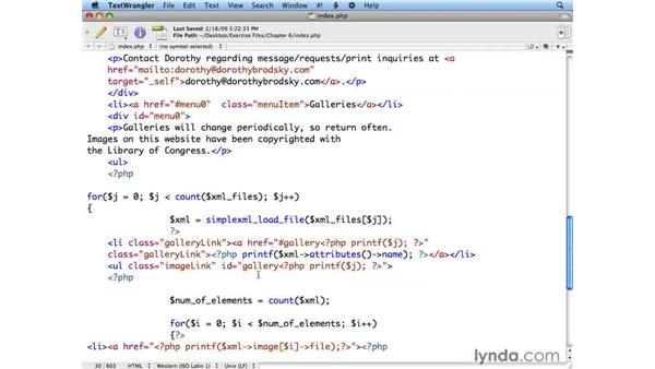 Using XML and PHP to create an HTML version of your site: Flash CS4 Professional: Building Search Engine Friendly Sites