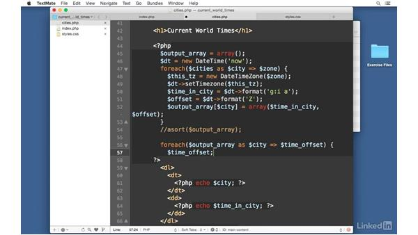 More efficient sorting: Easy PHP Projects: Time Zone Conversion