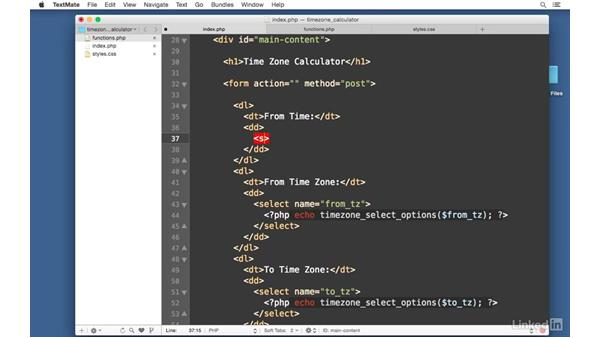 Create date selectors: Easy PHP Projects: Time Zone Conversion