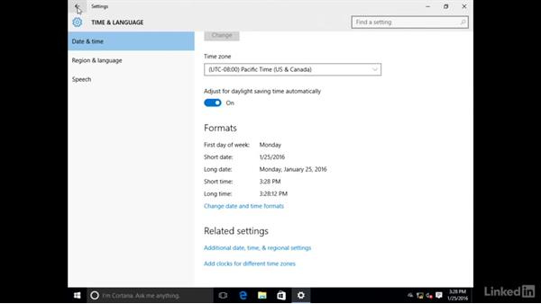 Adjust date and time and change computer name: Setting Up a New PC