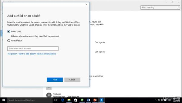 Add users and configure Family Safety: Setting Up a New PC