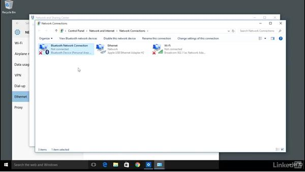 Connect to wired networks: Computer Literacy for Windows 10