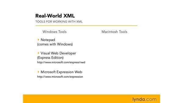Tools for working with XML: Real-World XML