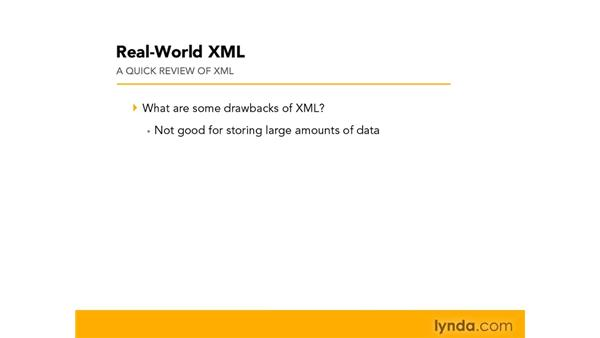Reviewing XML: Real-World XML