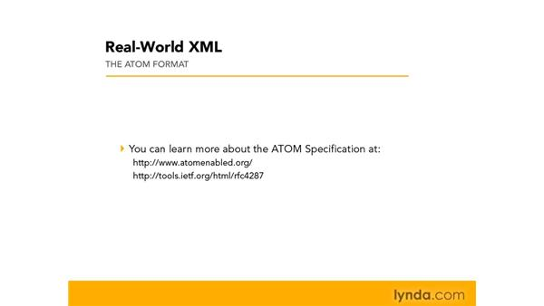 Understanding the Atom Syndication feed: Real-World XML
