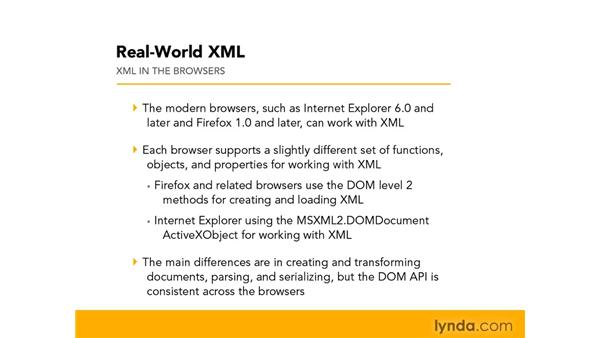 Using XML support in browsers: Real-World XML