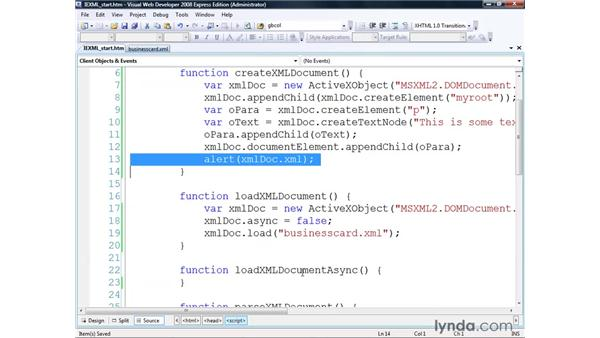 Using XML in Internet Explorer: Real-World XML