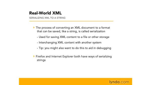 Serializing XML to a string: Real-World XML