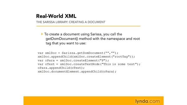 Understanding cross-browser actions with the Sarissa library: Real-World XML