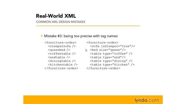 Avoiding common design mistakes: Real-World XML