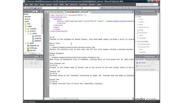 Creating the Tag set: Real-World XML