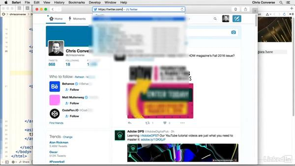 Creating a Twitter widget: Design the Web: Add a Twitter Timeline