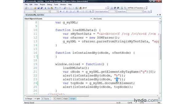 Using the isContainedBy() algorithm: Real-World XML