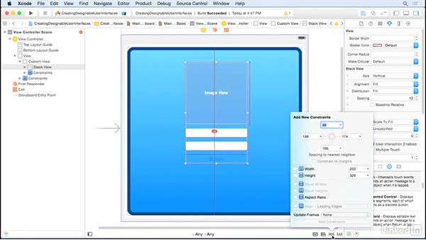 Lay out a user interface: iOS UI Development with Visual Tools