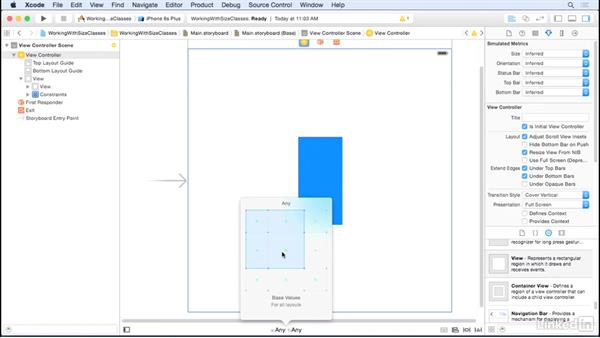Change size class constraints: iOS UI Development with Visual Tools