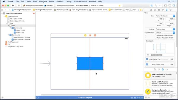 Add and remove constraints: iOS UI Development with Visual Tools