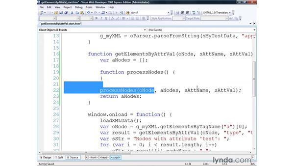 Using the getElementsByAttrVal() algorithm: Real-World XML