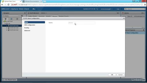Configure routing and TCP/IP stacks: Configure and Manage VMware vSphere 6 Networking