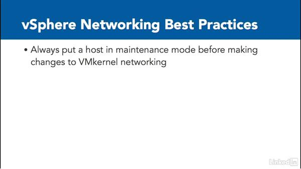 Best practices: Configure and Manage VMware vSphere 6 Networking