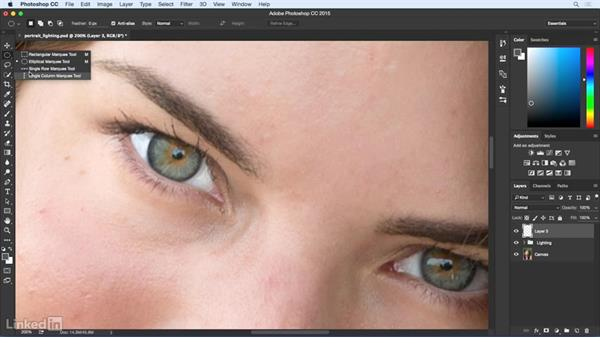 Remove distracting reflections: Eye Enhancement for Portraiture with Photoshop