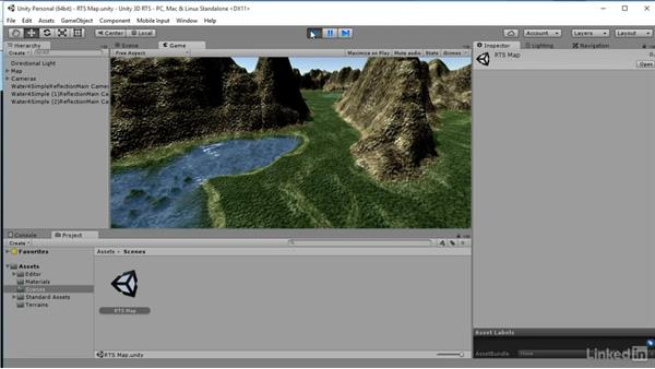 Load prebuilt level: Unity 5: Build a Real-Time Strategy Game