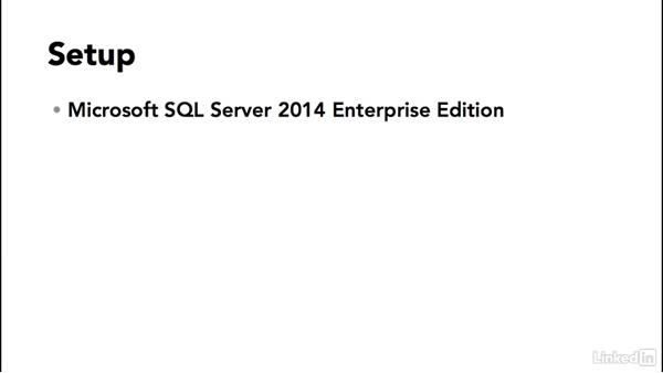 Setup: SQL Server 2014 Backup and Recovery